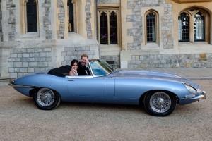 Royal couple in E-Jag
